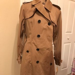 Michael Kors double breasted trench coat with belt